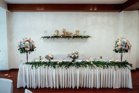 Stůl novomanželů