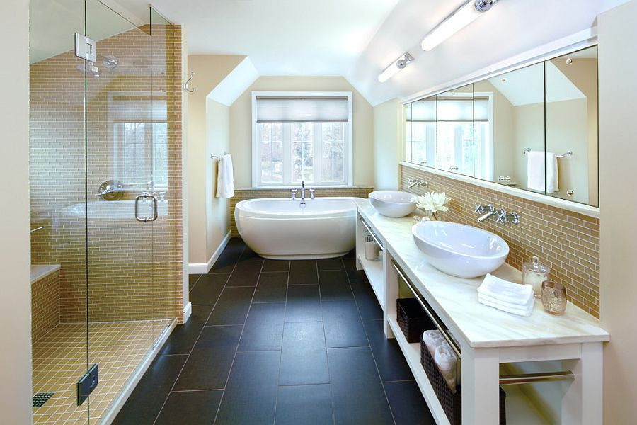 trendy-bathroom-design-combines-the-modern-and-the-classic