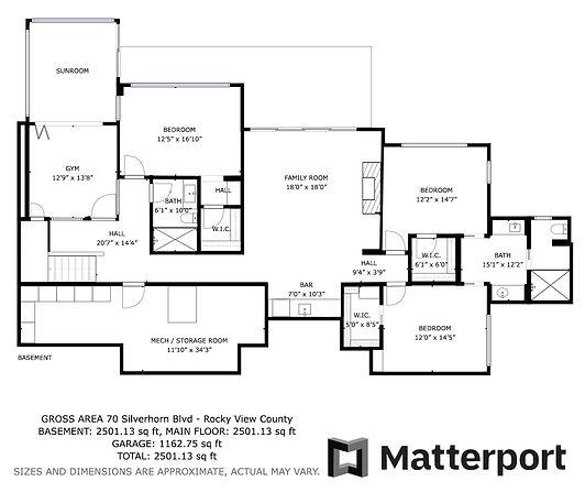 70 Silverhorn Blvd - Basement floorplan.