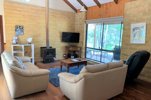 Nautilus Lounge leather sofa fireplace (
