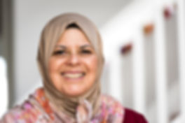 smiling woman in hijab