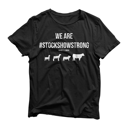 #StockShowStrong Shirt in Black