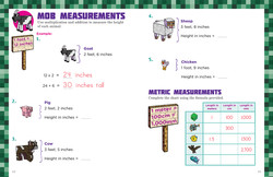 Measurement Concepts from Minecrafter Math Fun