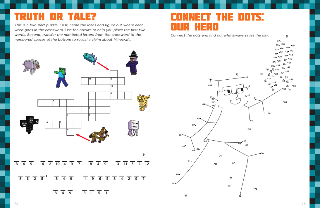 Minecrafter Activities Featuring Dot to Dot!