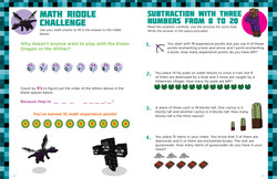 Word Problems Practice from Minecrafter Math Fun