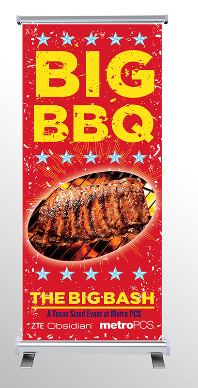 Big BBQ Standing Banner