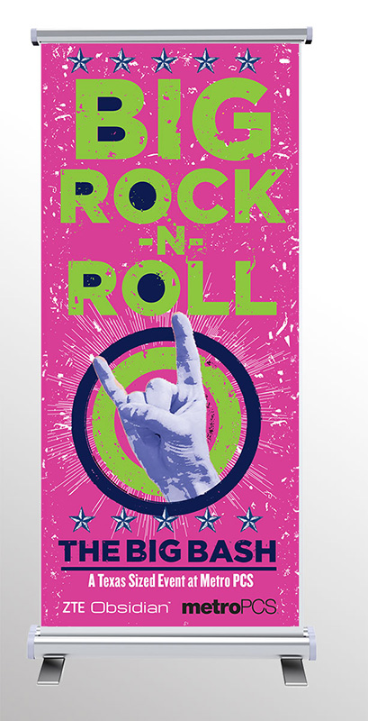 Big Rock-N-Roll Standing Banner