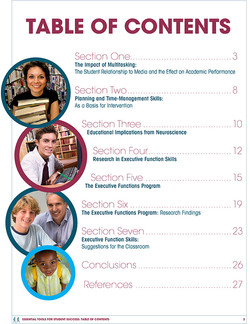 Executive Functions White Paper TOC