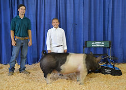 Chloe Granillo - 4-H Res Champion Hog.JP