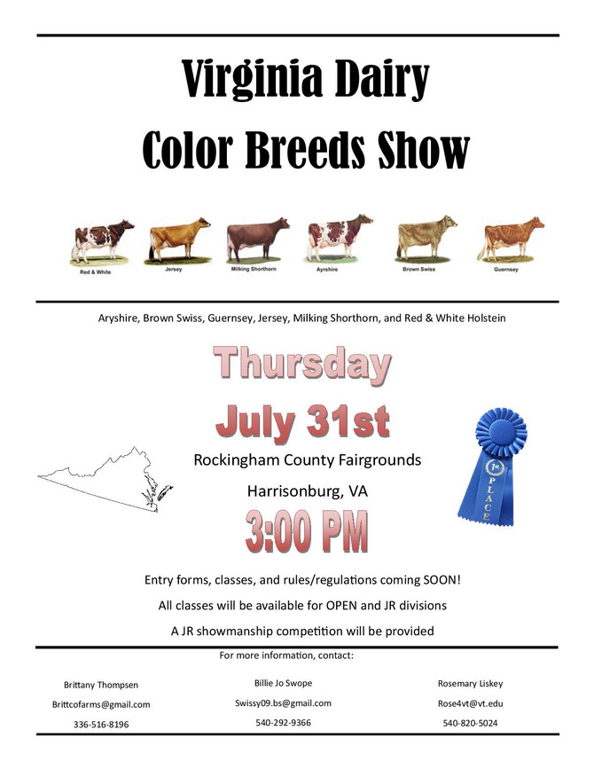VA Dairy Color Breeds Show
