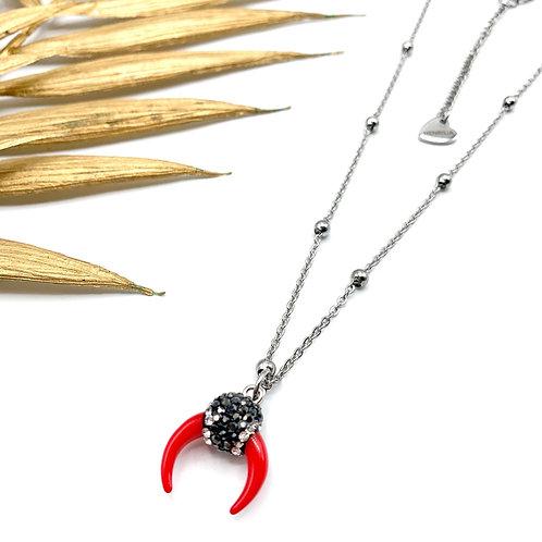 Sautoir Red Horn