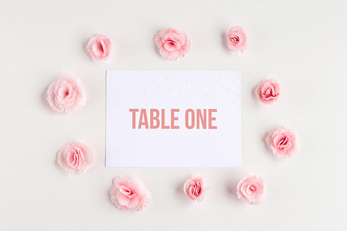 Be Bold Table Numbers