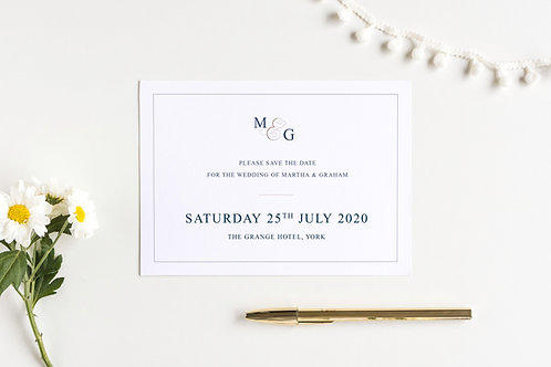 Elegance save the date card