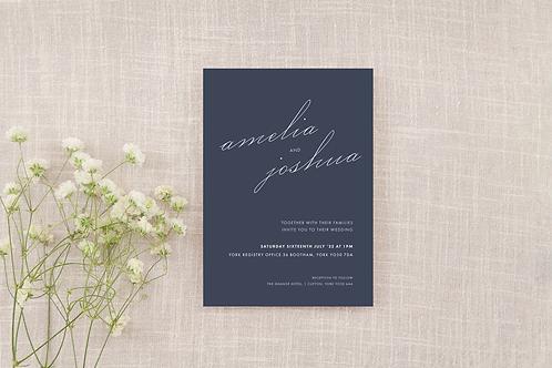 Demure Wedding Invitation