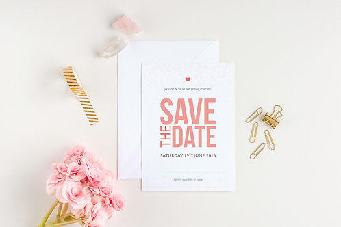 Be Bold Save The Date Card