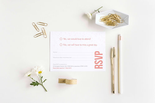 Be Bold RSVP Card