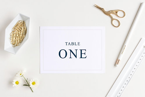 Elegance wedding table number