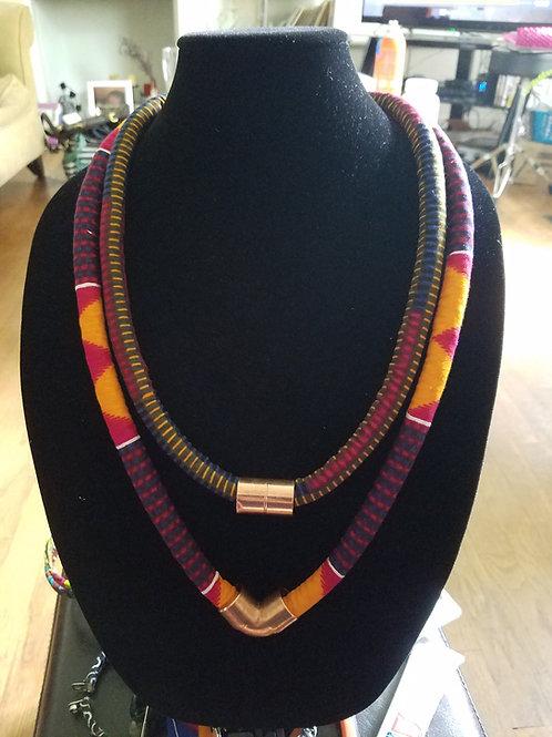 Ankara Rope Necklace(Double)