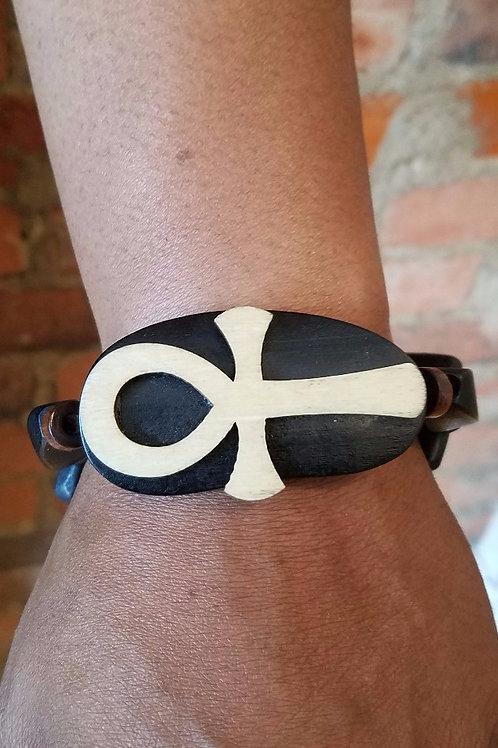 Wooden Ankh Bracelet