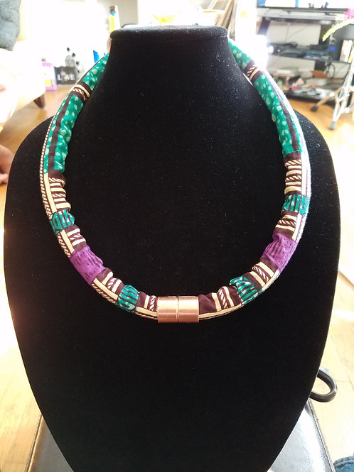 Ankara Rope Necklace(Single)