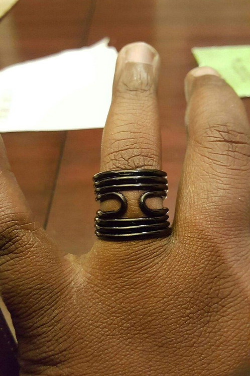 Triple Orbit Royalty Ring(Black Only)