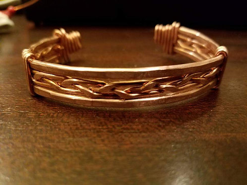 Braided Copper Wire Bracelet