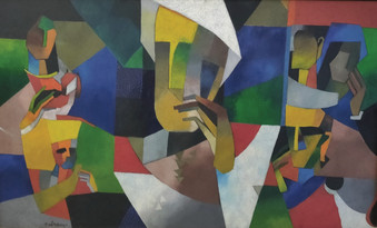 Niren Sen Gupta, Aparajta, 60x36cm, oil on canvas, 2008