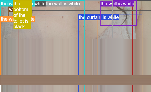 but the bottom of the toilet is black the curtain is white