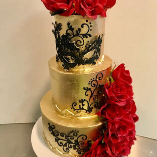 Tiered Gold Masquerade