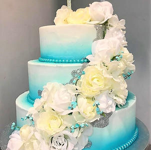 Turquoise Ombre Silver Lace Wedding.jpg