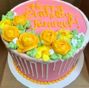 Orange and Pink Floral Drip