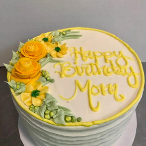 Rustic Swirl with Yellow Floral