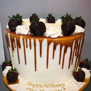 Caramel Drip with Strawberries