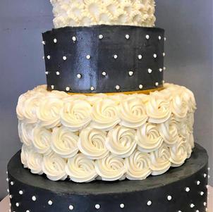 Rosettes and Swiss Dots Wedding Cake.jpg