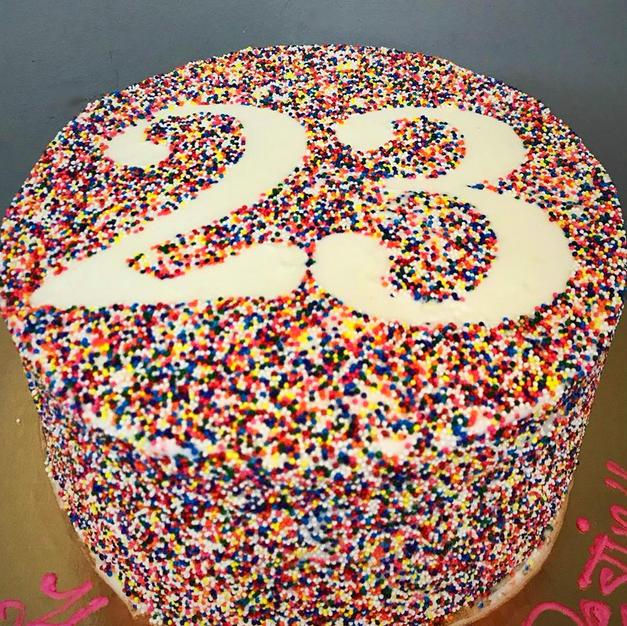 8 inch Sprinkle cake