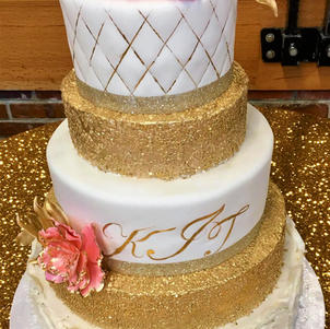 Gold Sequins, Ruffle Roses, and Quilting