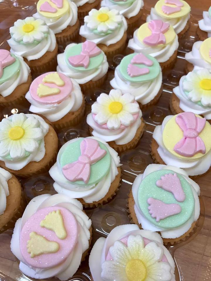 Baby Shower mini cupcake Topper