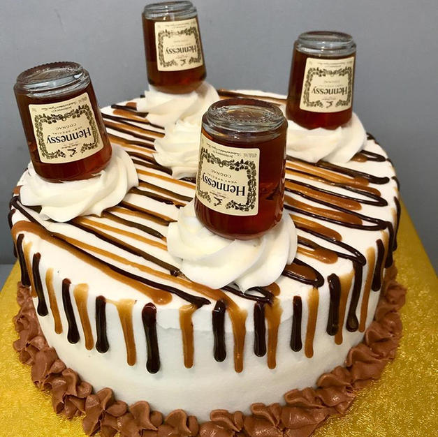 9 inch Hennessy Mini Bottle Cake