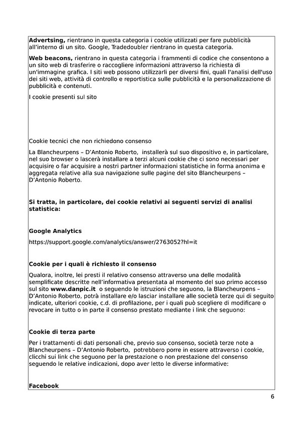 Informativa sulla Privacy & Cookie Polic