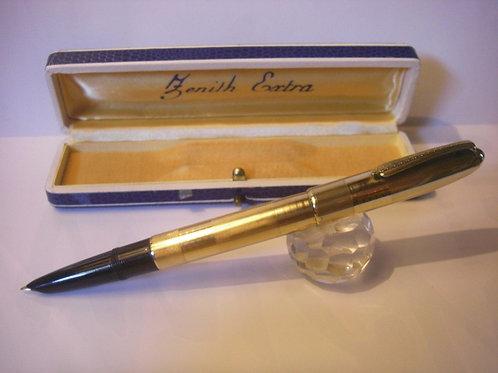 Stilografica Vintage Zenith Extra fountain Pen - Laminata oro - 1940