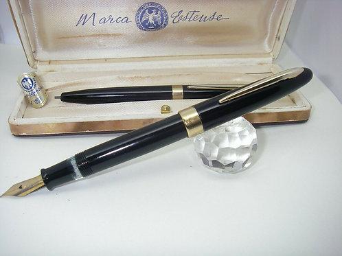 Stilografica MARCA ESTENSE fountain pen set-duo stylo vintage 1940
