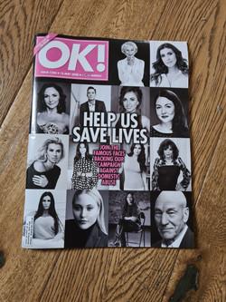 Natasha as part of OK! Magazine closet clearout!