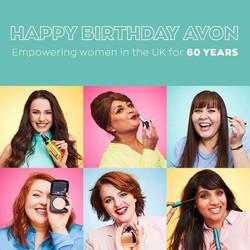 Natasha and other inspirational woman for Avon 60th Birthday Brochure
