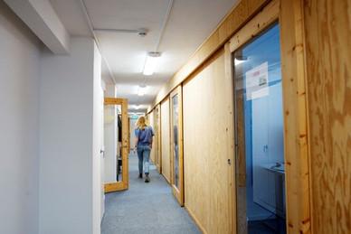 SliceVault hallway