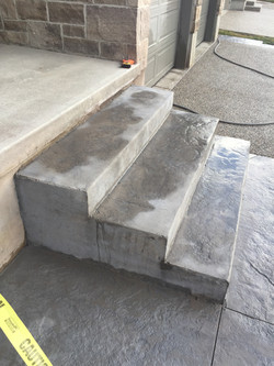 Exposed Concrete and Stamped Stairs