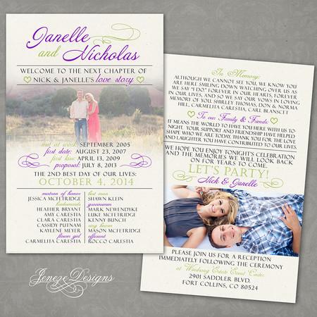 Wedding Program - Item# PG008