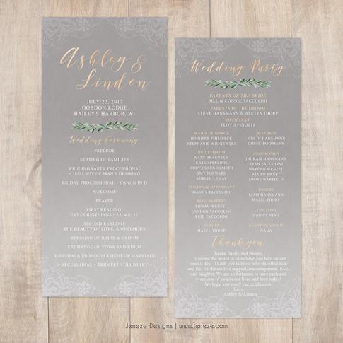 Wedding Program - Item# PG024