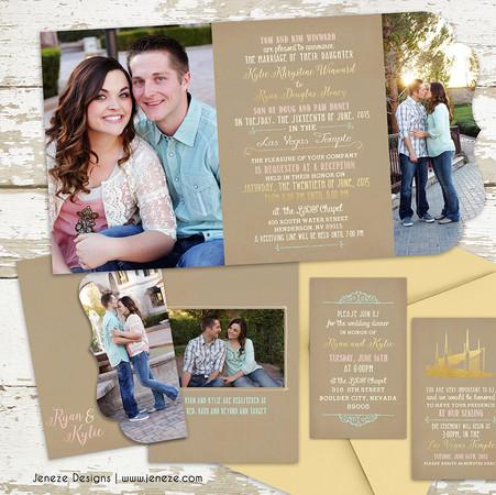 Boutique Tri-fold Invitation - Item# LF055