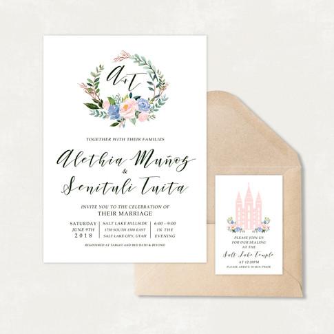 Wedding Invitation #WI559