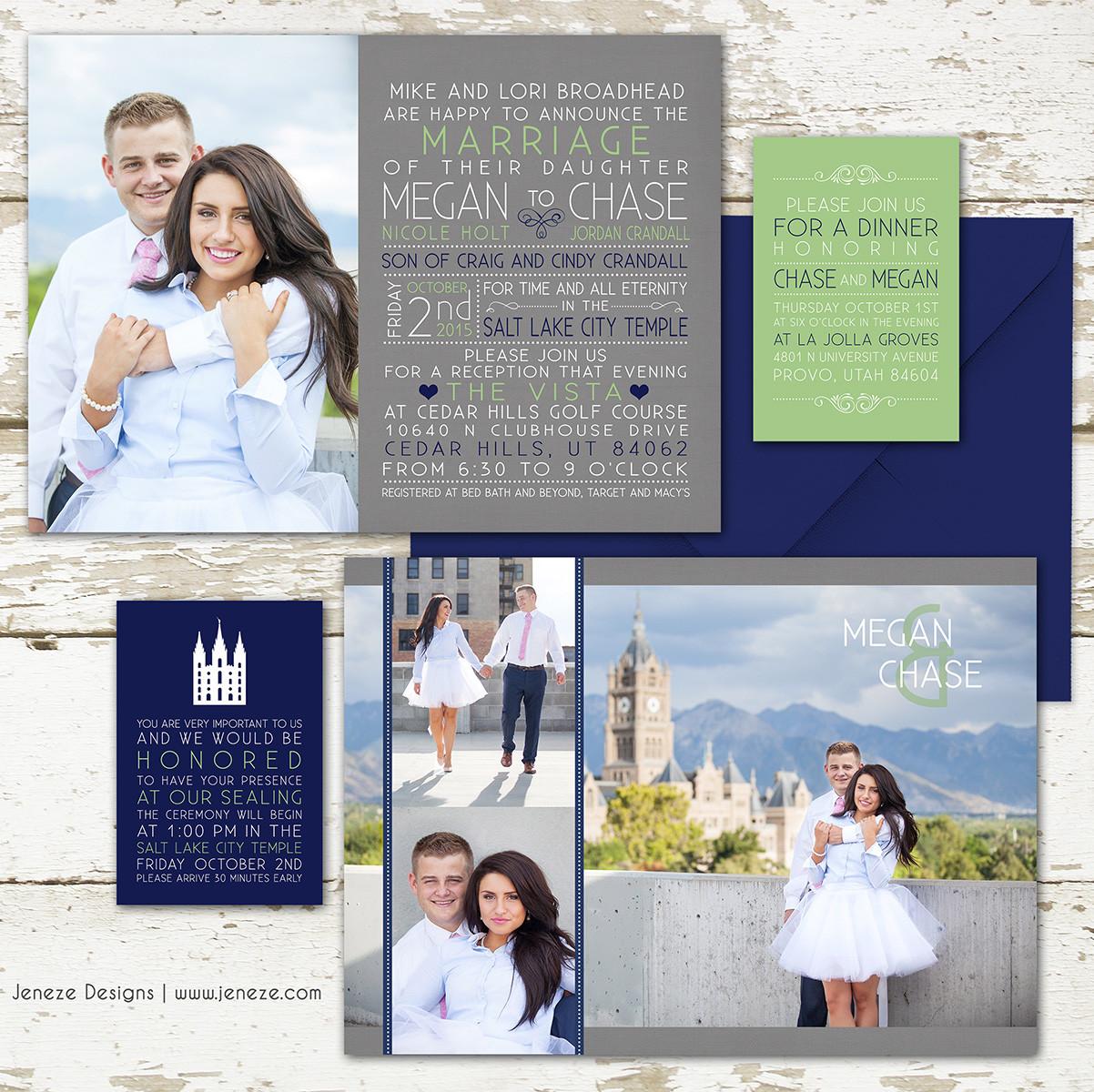 Jeneze designs custom wedding invitations photo invitations photo invitation item ca241 monicamarmolfo Images
